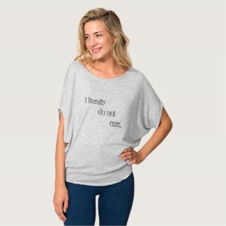 Camiseta Não se importe o T da sala de estar