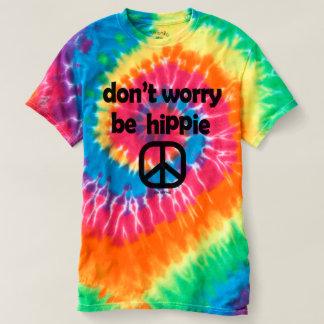 Camiseta Não se preocupe seja T da tintura do laço do