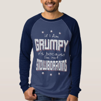 Camiseta Não SNOWBOARDING MAL-HUMORADA (branca)