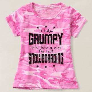 Camiseta Não SNOWBOARDING MAL-HUMORADA (preto)
