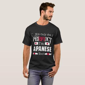 Camiseta Não somente perfeito eu sou demasiado país japonês