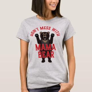 Camiseta Não suje com Mama Carregamento Engraçado
