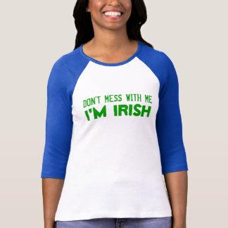 Camiseta NÃO SUJE COM MIM, mim são IRLANDÊS