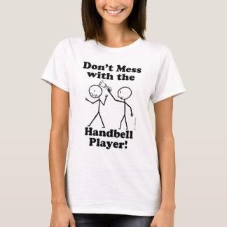 Camiseta Não suje com o jogador do Handbell