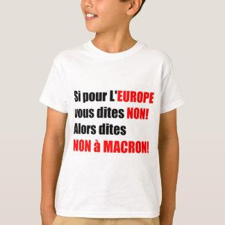 Camiseta Não T político do à MACRON