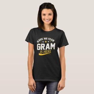 Camiseta Não tenha nenhum grama do medo está aqui um