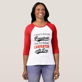 Camiseta Não um fã de basebol