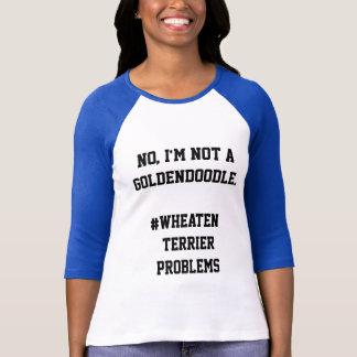 Camiseta Não um Goldendoodle - problemas Wheaten de Terrier