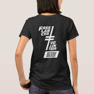 Camiseta Não um voluntário
