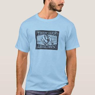 Camiseta Narcissist (auto vazio): Woodcut digitado
