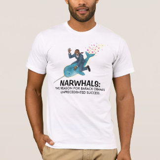 Camiseta Narwhals para o t-shirt de Obama