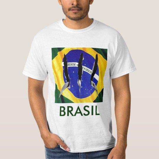 CAMISETA NAS GARRAS DA BANDEIRA, BRASIL