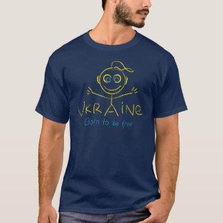 Camiseta Nascer a estar livre em Ucrânia