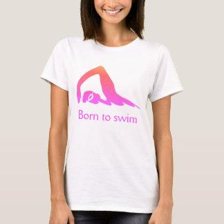 Camiseta Nascer a nadar, para picar, com suas palavras