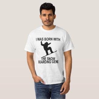 Camiseta Nascer com o t-shirt do gene da snowboarding.
