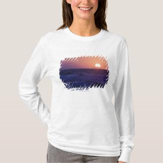 Camiseta Nascer do sol sobre a baía de Malaga