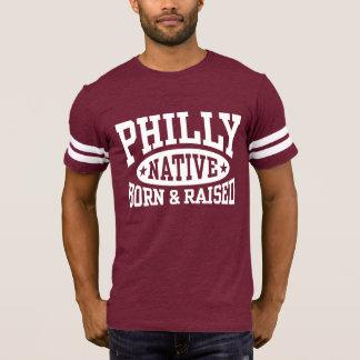 Camiseta Nascer nativo de Philly e aumentado