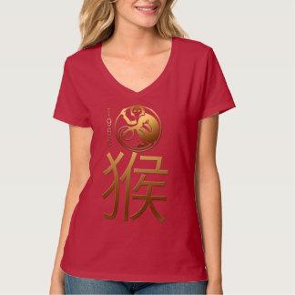 Camiseta Nascer no T de W do zodíaco do chinês do ano 1956