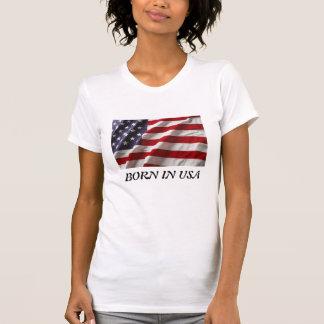 Camiseta Nascer no Tshirt da mulher dos EUA