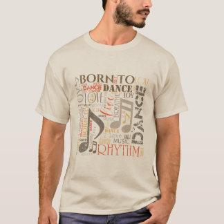 Camiseta Nascer para dançar a laranja/Brown ID277