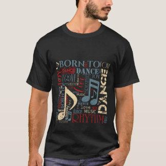 Camiseta Nascer para dançar ID277 azul