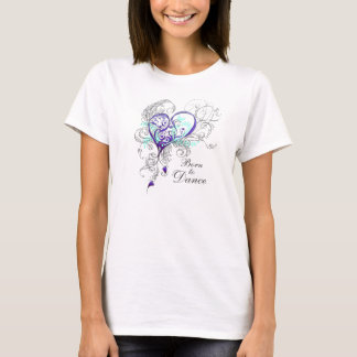 Camiseta Nascer para dançar o t-shirt da boneca