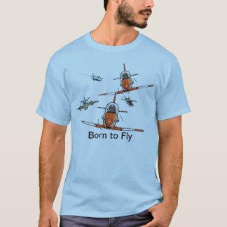 Camiseta Nascer para voar o t-shirt do aviador