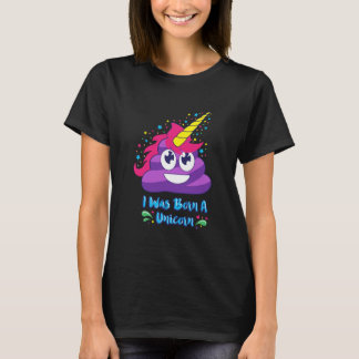 Camiseta Nascer um unicórnio (tombadilho Emoji)