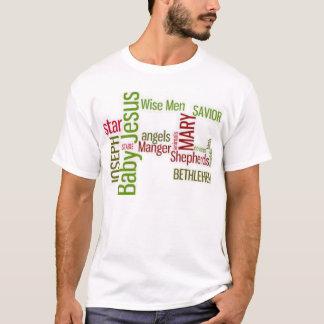 Camiseta Nascimento do Natal do t-shirt de Jesus
