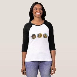 Camiseta Nascimento do t-shirt da luva das mulheres de