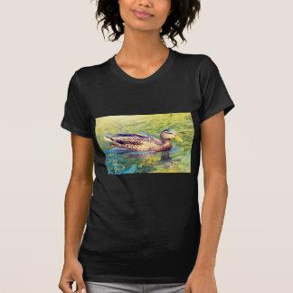 Camiseta Natação bonito do pato