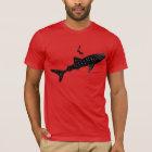 Camiseta Natação do tubarão de baleia - signage traseiro do