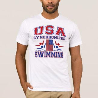 Camiseta Natação sincronizada dos EUA