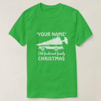 Camiseta NATAL antiquado da família