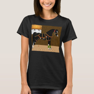 Camiseta Natal árabe preto do cavalo