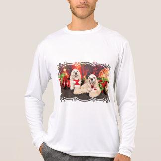 Camiseta Natal - Cocker - Toby, Havanese - pouco T