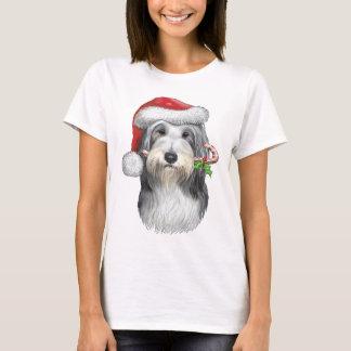 Camiseta Natal com jazz o Collie farpado