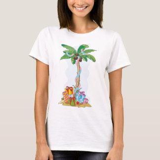Camiseta Natal da palmeira com presentes