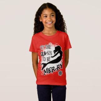 Camiseta Natal da sereia