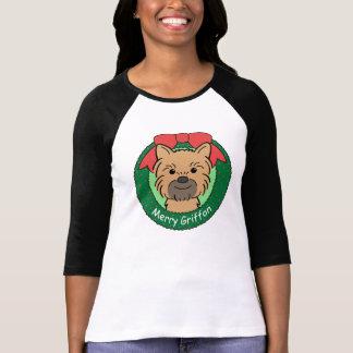 Camiseta Natal de Bruxelas Griffon