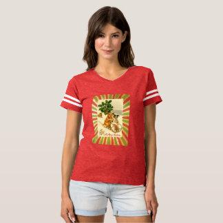 Camiseta Natal de Dogsled do vintage