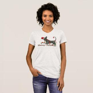 Camiseta Natal de Meowy! Sphynx e T do bebê