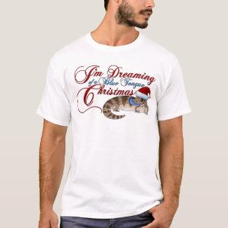 Camiseta Natal de Skink da língua azul