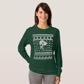 Camiseta Natal de T-Rex do papai noel