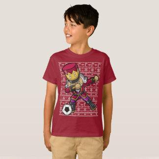 Camiseta Natal de toque ligeiro do Nutcracker do futebol