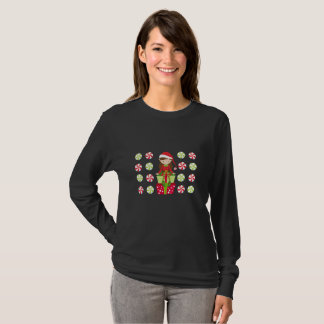 Camiseta Natal do esmagamento dos doces