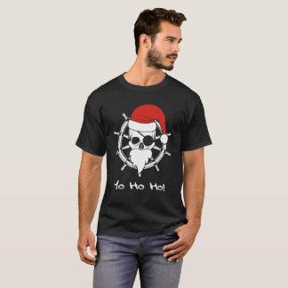 Camiseta Natal do pirata de Yo Ho Ho náutico