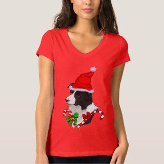Camiseta Natal dos amantes de border collie