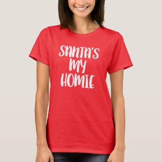 Camiseta Natal engraçado do Homie do papai noel meu