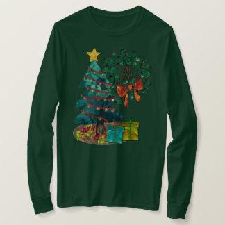 Camiseta Natal fantástico da aguarela personalizado